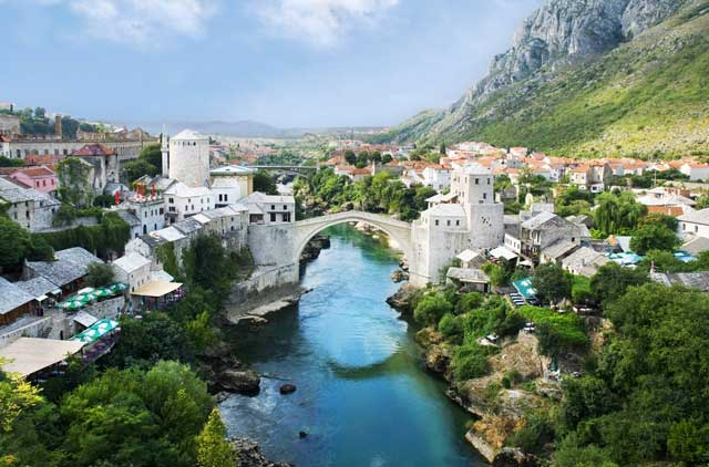 "The Old Bridge (""Stari Most"") in Mostar, Bosnia"