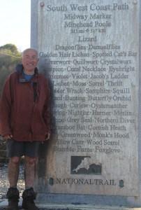 Geoff Halfway on South West Coast Path