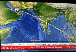 Dubai - Kuala Lumpur flightpath