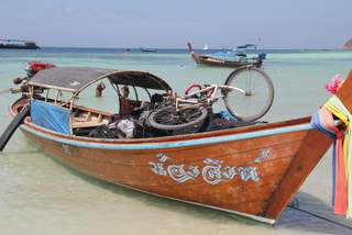 Bike on a long boat