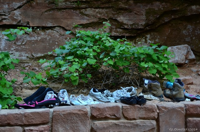 14 DSC_1934 Shoes on stone wall end of River walk trail Zion NP UT g (1024x678)