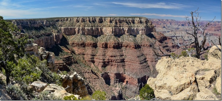 El Tovar & Bright Angel trail South Rim Grand Canyon National Park Arizona