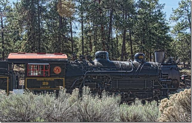 Steam engine South Rim Grand Canyon National Park Arizona