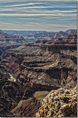 Colorado River downstream South Rim Grand Canyon National Park Arizona
