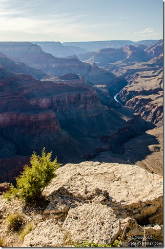View West Pima Point Hermit's Rest Road South Rim Grand Canyon National Park Arizona