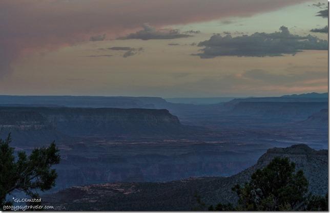 Sunset West canyon Crazy Jug Point Kaibab National Forest Arizona