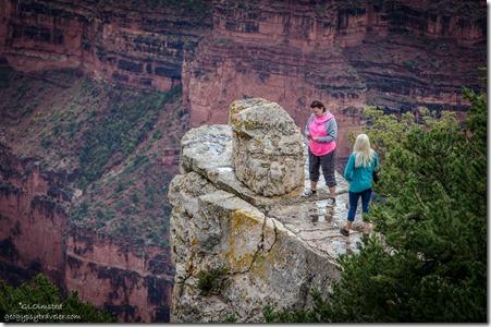 Tourons on slick rock North Rim Grand Canyon National Park Arizona