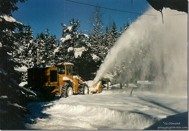 Dug out of 28inches of snow Pine Creek Work Station Gifford Pinchot National Forest Washington