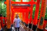 1000's of Tojii gates leading to the Fushimi Inari shrine, Kyoto