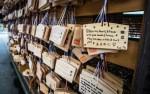 Prayers outside a Shinto Shrine