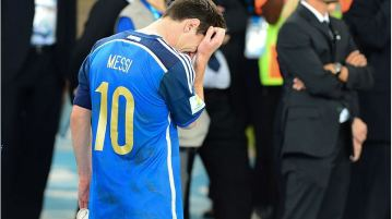An Emotional Messi After the 2014 World Cup Final  By Agência Brasil ([1]) [CC BY 3.0 br (http://creativecommons.org/licenses/by/3.0/br/deed.en)], via Wikimedia Commons