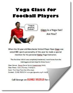 Football Yoga Class Poster