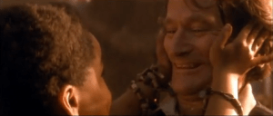 Scene from Hook, with Robin Williams