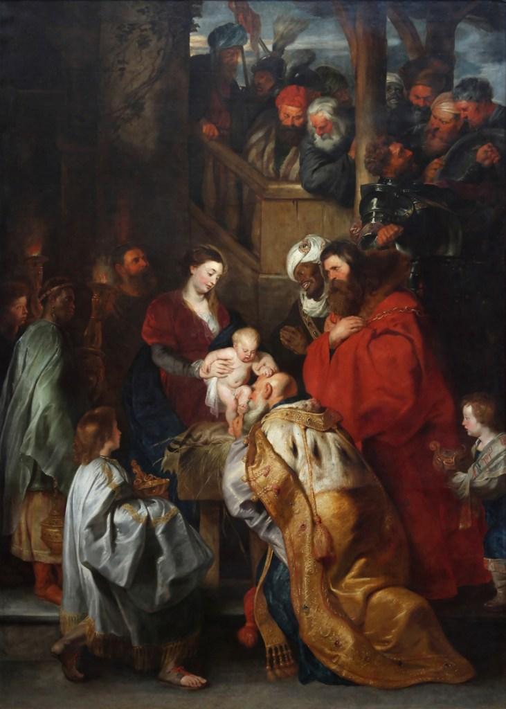 Rubens' Adoration of the Magi. One of my favorite paintings. The original is more than ten feet tall!
