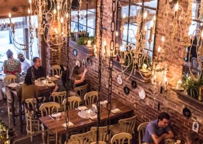 Wooden architectural elements for restaurant interior design Virginia, Maryland, and North Carolina.