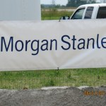 Another show sponsor banner, Morgan Stanley.