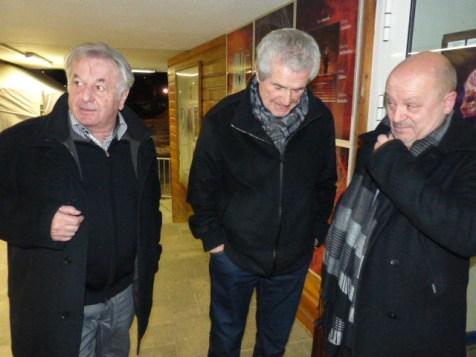 Arrivée de Claude Lelouch entre le président Pierre Sachot et Jean-Pascal Voirin