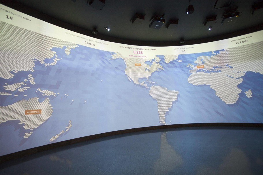 one world trade center, projection map, design