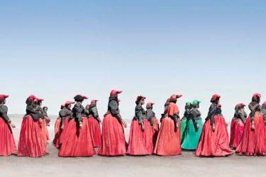 Jim Naughten: Herero Women Marching (2012) (c) Jim Naughten, courtesy of Klompching Gallery, New York