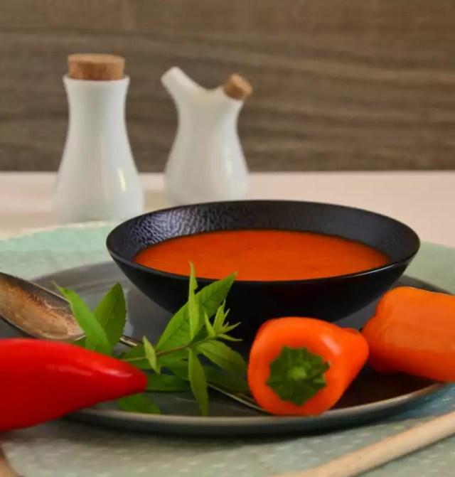 Paprika Melonen Suppe