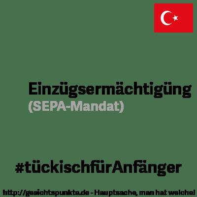 Einzugsermächtigung - Sepa-Mandat