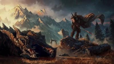Wallpaper : 1920x1080 px, artwork, fantasy art, The Elder Scrolls V Skyrim, video games ...