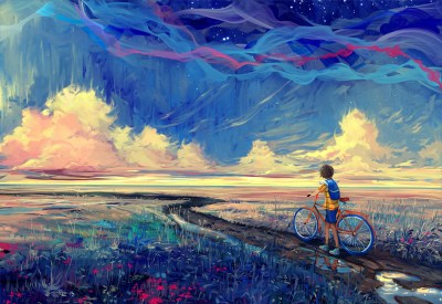 Wallpaper : 2560x1760 px, artwork, bicycle, fantasy art 2560x1760 - 4kWallpaper - 1028162 - HD ...
