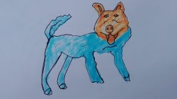 Small Of Realistic Dog Drawing