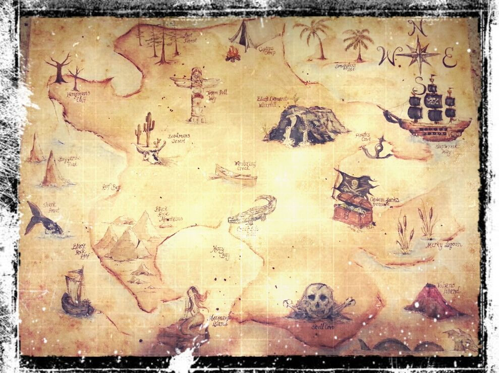 Treasure Map Drawing at GetDrawings com   Free for personal use     989x739 DIY Childrens Drawing Board  Treasure Map Example