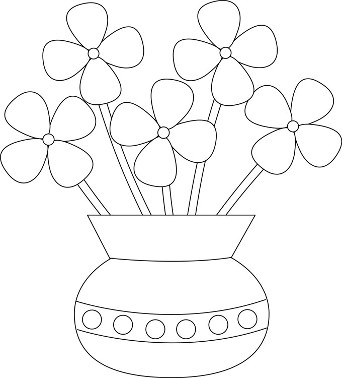 How To Draw A Easy Flower Vase Astar Tutorial