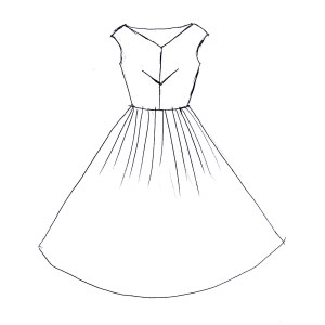 Rummy Personal Use Design A Dress Contest Design A Dress Sweepstakes Petit Main Sauvage A Little Bit Sewing Dress Drawing At Free