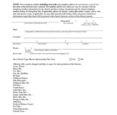 church directory template 111