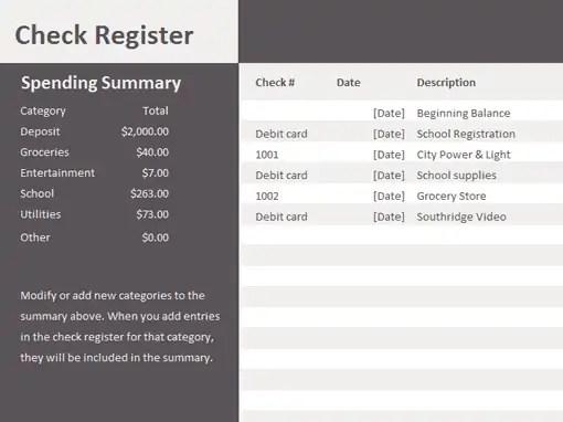 checkbook register template 444