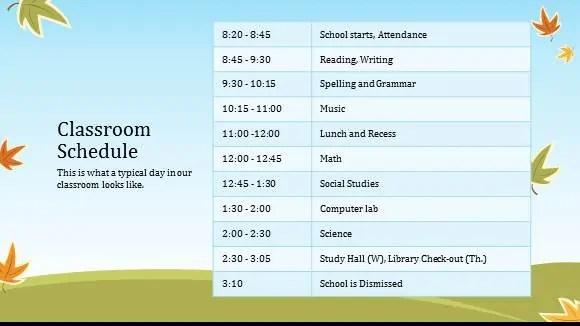 8+ Class Schedule Makers