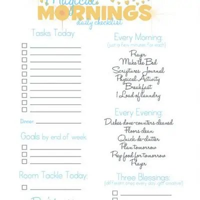 daily checklist template 888