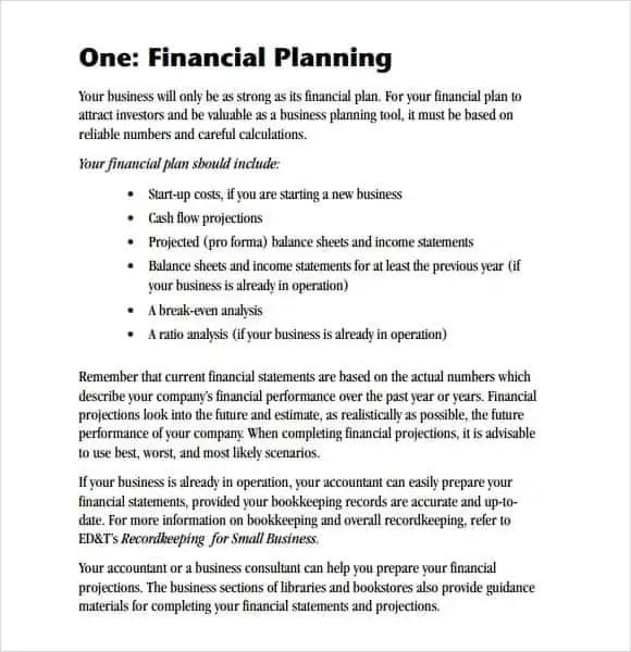 financial plan template 444
