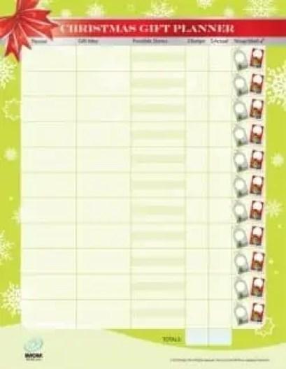 gift list template 341