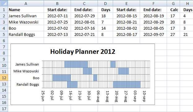 holiday planner template 1874