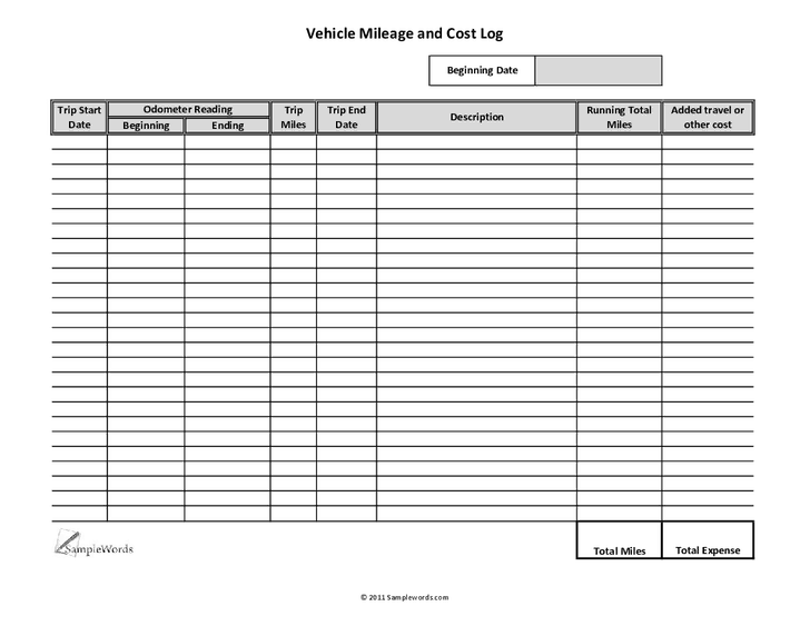 10+ Excel Mileage Log Templates | uspensky-irkutsk.ru