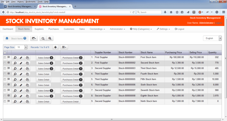 stock management template 222