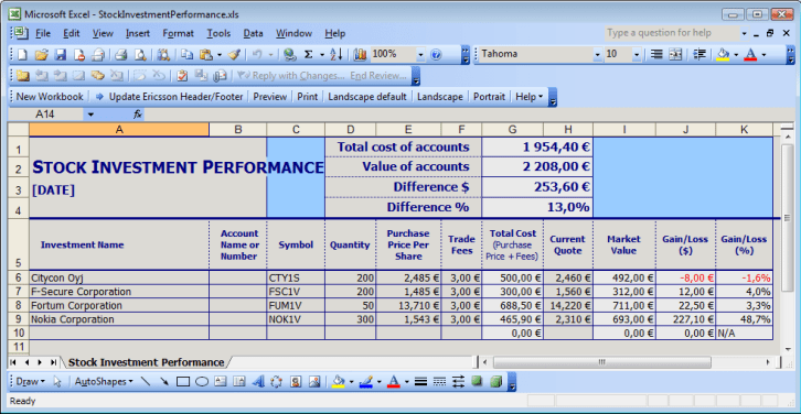 stock management template 999
