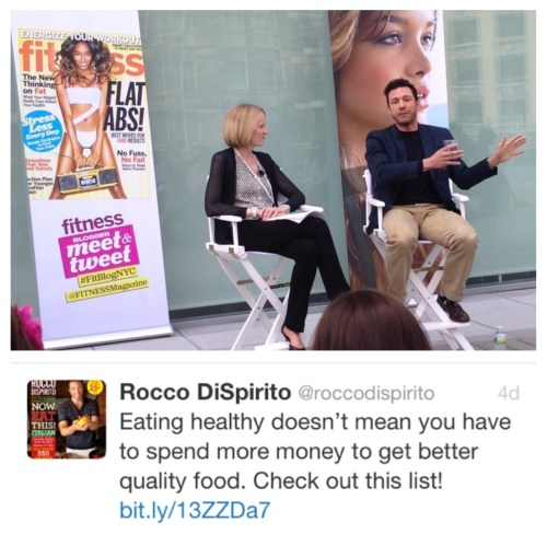 Pam O'Brien and Rocco DiSpirito discussing how to Eat What You Love - And Still Lose Weight!