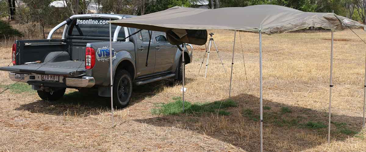 The Bush Company 4WD awning on a dual cab ute Get Good Gear product review