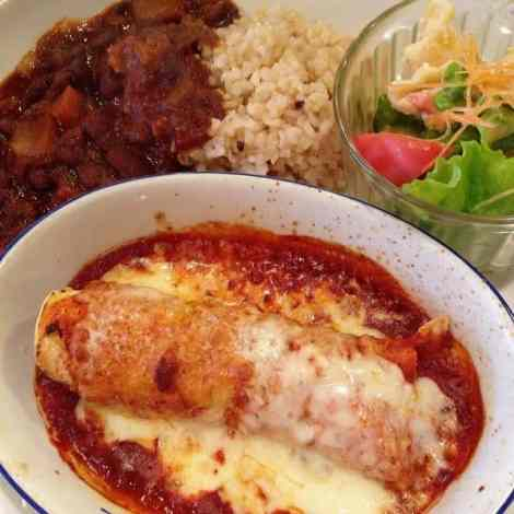 vegetarian mexican lunch plate