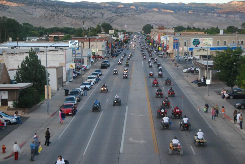 ATV Parade on Main Street