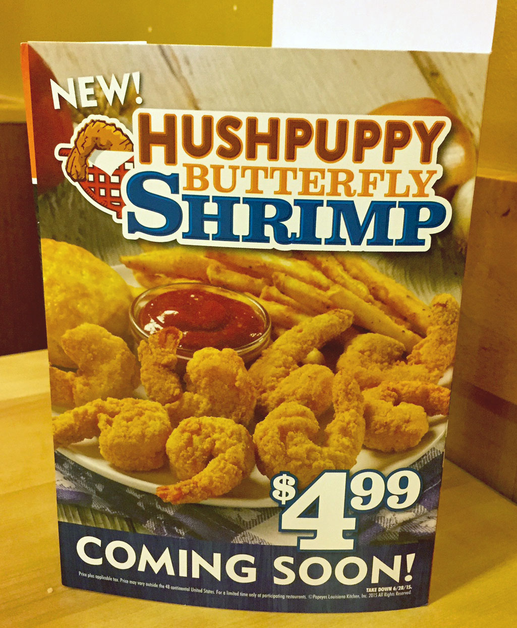 Winsome Pops Hushpuppy Butterfly Shrimp Smoky Garlic Chile Ken Get My Mouf Pops Big Box Meal 2018 Pops Big Box Review nice food Popeyes Big Box