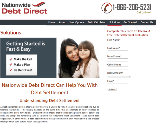 Nationwide Debt Direct   Site Review
