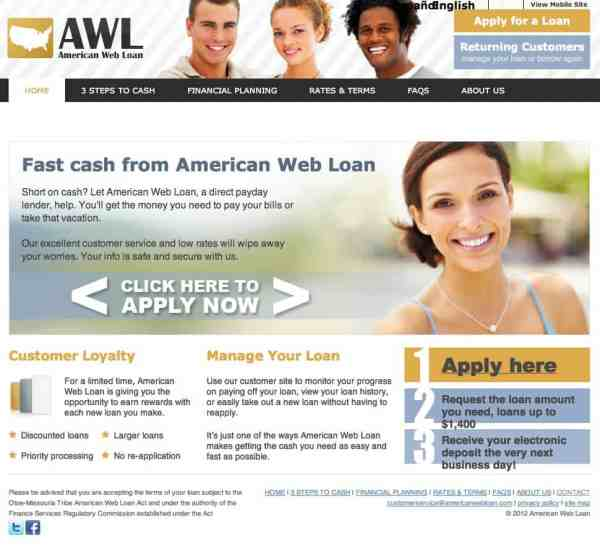 We Fix Money   American Web Loan   Consumer Complaint