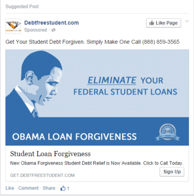 Debt Free Student Runs Most Unbelievably Dumb Advertisement
