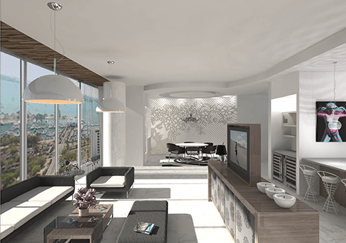 The Jewel Living Area Rendering